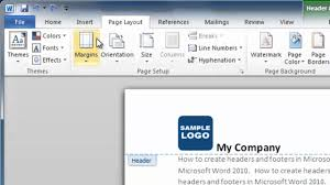 how to make a header and footer in word 2010 youtube