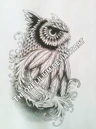 owl tattoo design by theonelilium on deviantart