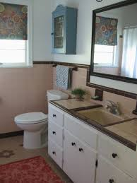 Chocolate Brown Bathroom Ideas by Retro Bathroom 50s Bathroom Peach Tile With Reddish Brown Trim