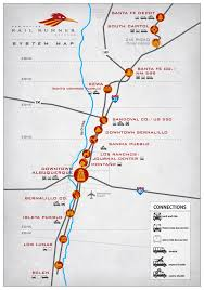 Map New Mexico by Official Map New Mexico Rail Runner Commuter Rail Transit Maps