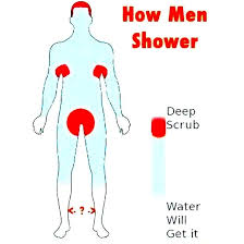 Shower Meme - how men shower meme guy