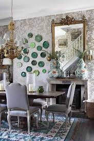 Chic Dining Rooms Dining Rooms Floral Wallpaper From Ralph Sets The Tone For