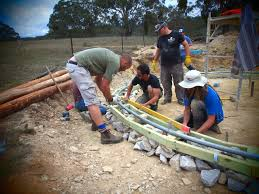 roundhouse build foundations and walls milkwood permaculture