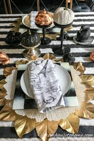 beautiful gold and copper fall table setting