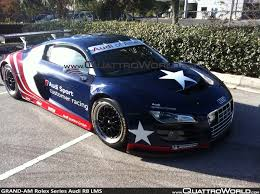 breaking first photos of the us grand am rolex series audi r8 lms