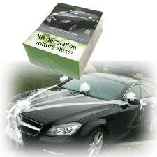 kit de décoration pas cher pour voiture des mariés mariage - Kit Deco Voiture Mariage