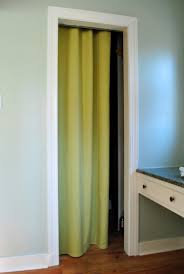 Curtains As Closet Doors How To Make A No Sew Closet Curtain