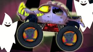 monster truck shows videos scary monster truck halloween video for kids compilation for