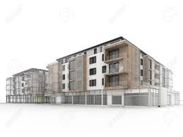 Architecture Visualization by Apartment Building Design Progress Architecture Visualization
