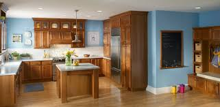 blue kitchen walls with brown cabinets alkamedia com