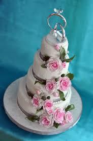 pink and silver wedding cake kāke