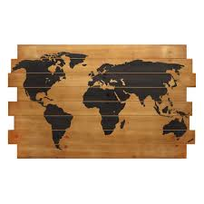 world map on wood planks scrapsofme me