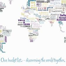 Wold Map Our Bucket List World Map By Maps International