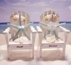 wedding cake toppers theme starfish adirondack chairs themed wedding personalized