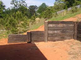 Retaining Wall Design Ideas by Railroad Ties Retaining Wall Crafts Home