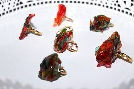 edible candy jewelry unisexxxy rock candy rings by breanne laurencosenza