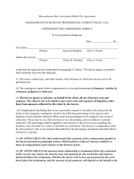 Massachusetts Power Of Attorney Form Free by Contingency Fee Agreement Form 7 Free Templates In Pdf Word