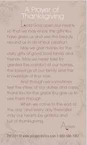 thanksgiving prayer cards prospect hill company