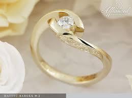 eljegyzesi gyuru hattyú barokk 2 engagement ring affianced karikagyűrű