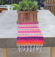 Orange Table L Mex Tm Traditional Falsa Mexican Blanket Table