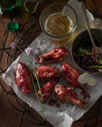 blackberry chive glazed chicken wings just bare chicken