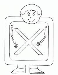 uppercase x ray alphabet coloring pages alphabet coloring pages