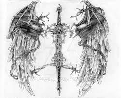 winged sword tatoo by nalavara on deviantart
