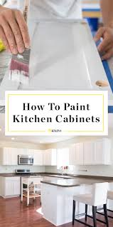 how to paint kitchen cabinets without streaks how to paint wood kitchen cabinets with white paint kitchn