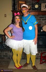 donald costume and duck couples costume