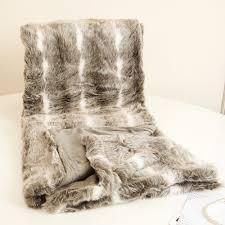 Faux Fur Throw Grey Luxury Faux Fur Throw Blanket