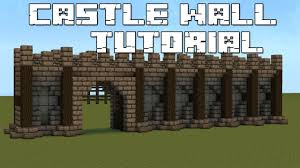 Cool Wall Designs by Minecraft Castle Wall Tutorial Youtube