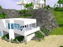 Modern Beach House The Sims 3 Modern Beach House Youtube