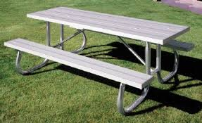 Picnic Table Frame Extra Heavy Duty Aluminum Picnic Table Pw Athletic Mfg Co