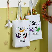personalized trick or treat bags personalized treat bags totes pails at personal creations