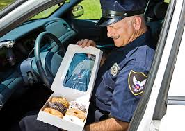 what started the cops doughnuts stereotype