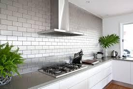 Stainless Steel Kitchen Backsplash Tiles Stainless Steel Subway Tile Backsplash Home Design Ideas