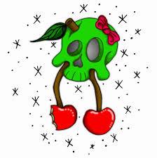 cherries drawing skull cherries design by heavens