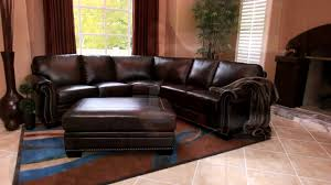 venezia leather sectional and ottoman santa monica top grain leather sectional and ottoman video gallery