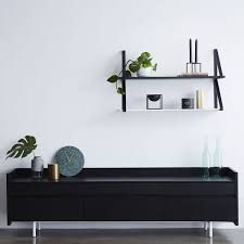Wall Tv Cabinet Design Italian Black Stained Ash Black Wooden Scandinavian Sideboard Or Buffet