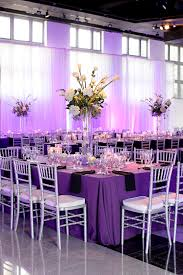 purple and silver wedding beautiful rectangle tables purple tablecloths silver chivalri