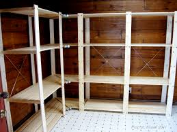 two men and a little farm mudroom shelving