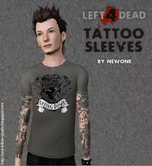 mod the sims left4dead tattoo sleeves