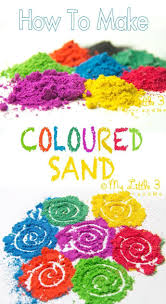 how to make coloured sand diy colored sand sand crafts and craft