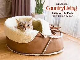 Cats In Dog Beds Sherpa Moccasin Bed Cat Bed Dog Bed Pet Bed Modern Cat And
