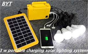 portable charging system rechargeable battery solar power system