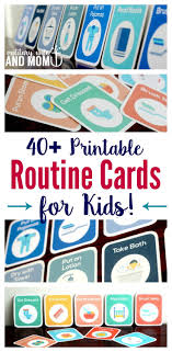 printable evening schedule how to get kids to follow a routine independently without nagging