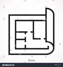 floor plan icon vector stock vector 433042549 shutterstock