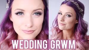 wedding makeup bridesmaid grwm bridesmaids wedding makeup inthefrow