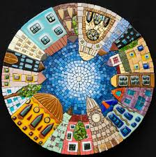 blue mosaic shower tile imanada periwinkle glass subway modwalls