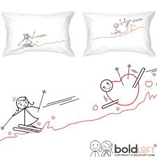 gift hers boldloft fallen for you his and hers pillowcases